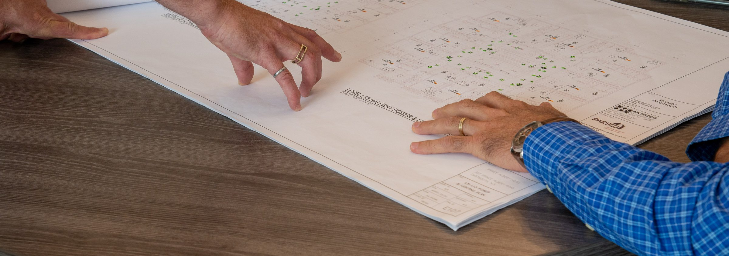 PNL employees Working on plans for apartment building 100 units